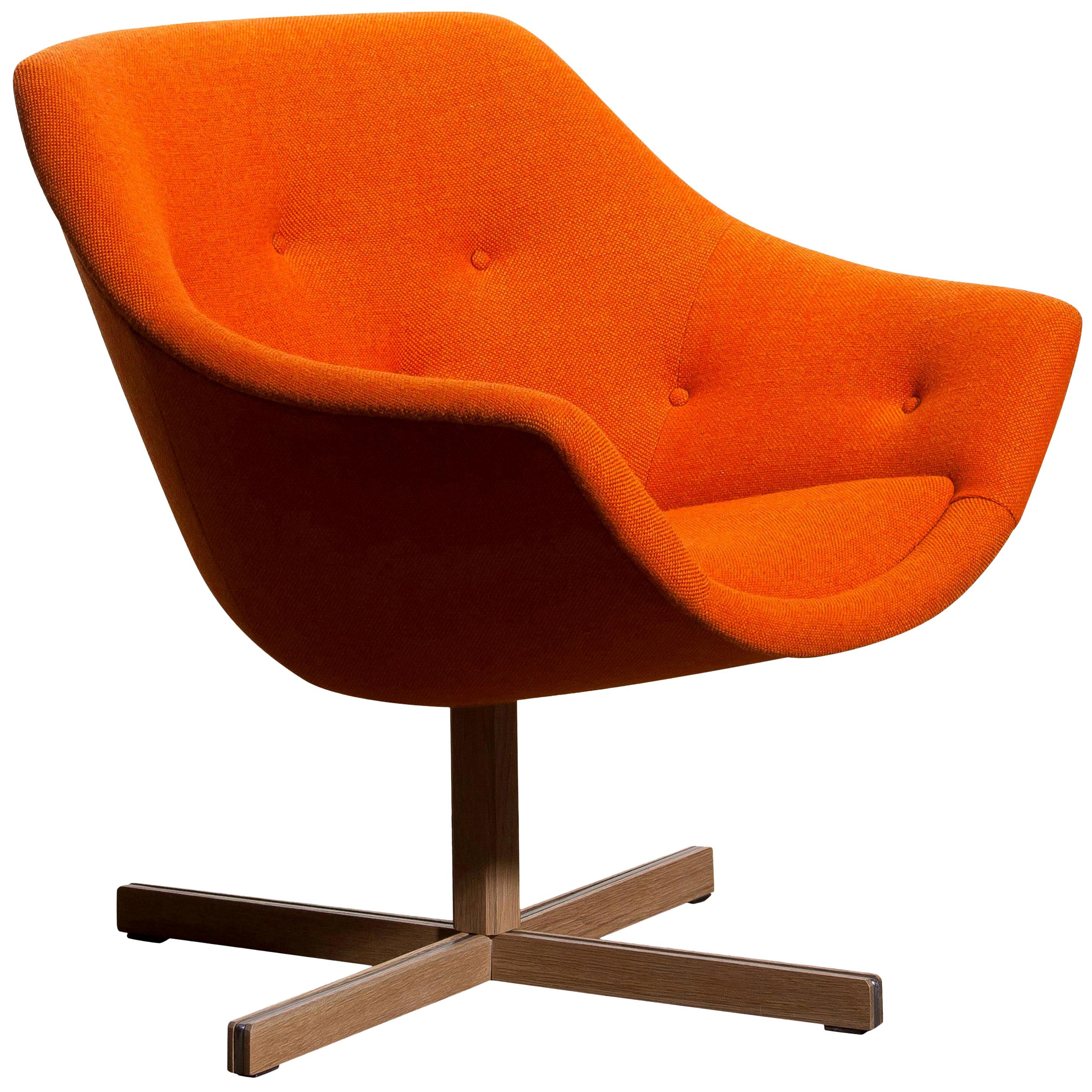1960s, 'Mandarini' Swivel Armchair by Carl Gustaf Hiort and Nanna Ditzel
