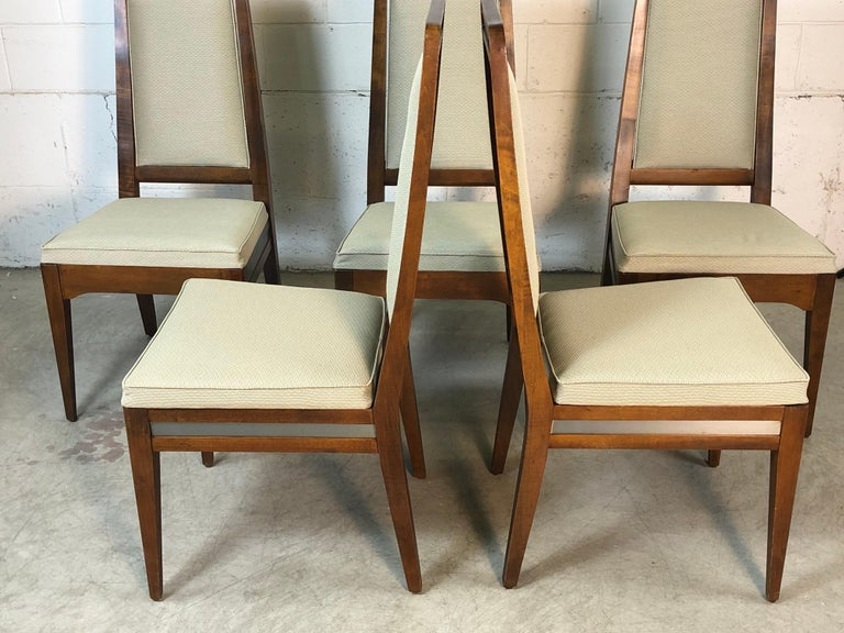 1960s Maple High Back Dining Chairs, Set of 6 For Sale 4