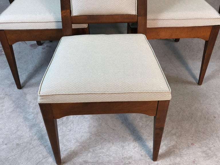 Mid-Century Modern 1960s Maple High Back Dining Chairs, Set of 6 For Sale