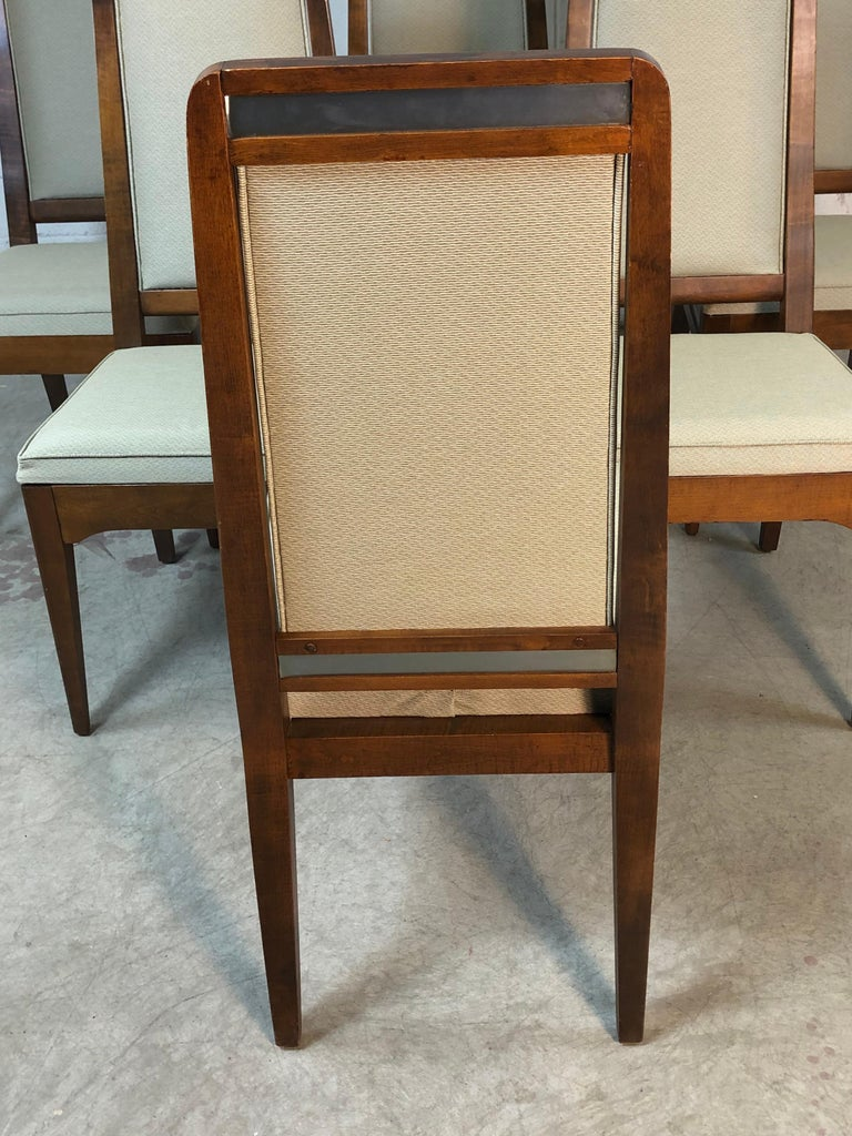 20th Century 1960s Maple High Back Dining Chairs, Set of 6 For Sale