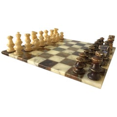 1960s Marble Chess Set