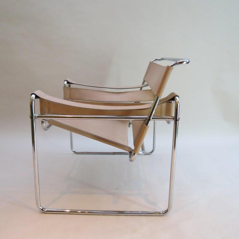 Italian 1960s Marcel Breuer B3 Wassily Chair by Gavina, Italy For Sale