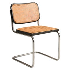 1960s Marcel Breuer for Gavina Woven Straw Steel Tubolar Cesca Chairs, Set of 8