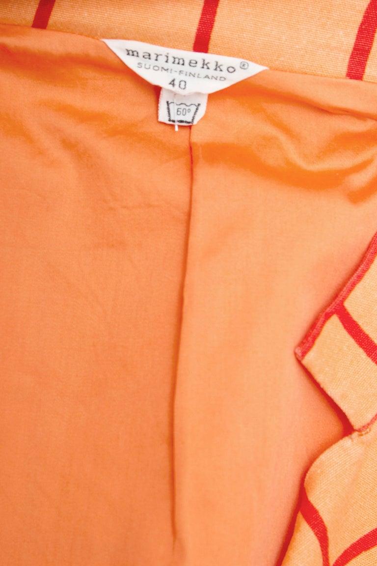 1960s Marimekko Cotton Color Block Ensemble XS For Sale 1
