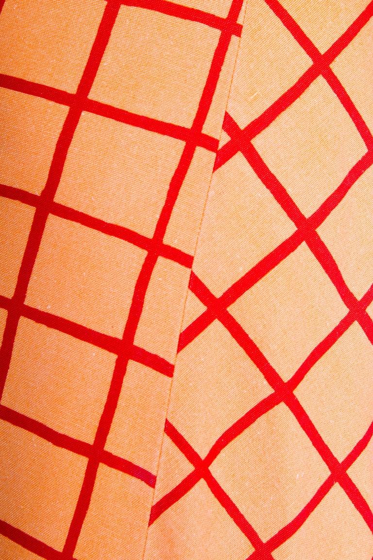 1960s Marimekko Cotton Color Block Ensemble XS For Sale 2