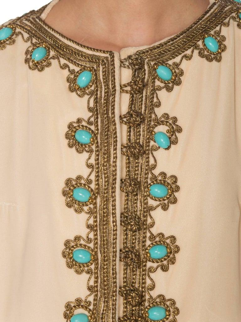 1960s Martha Gold Embroidered Velvet Kaftan For Sale 7