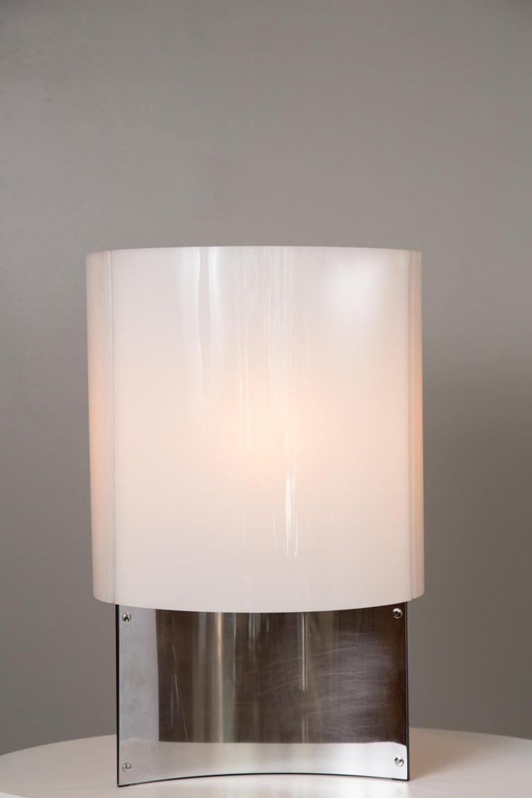 Metal 1960s Massimo Vignelli Model 526/g Table or Floor Lamp for Arteluce For Sale