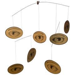 1960s M.C. Escher Style Eye Mobile