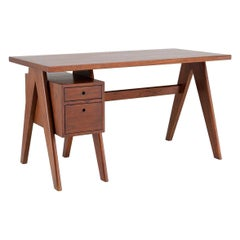 1960s MCM French Design and Scandinavian Style Wooden Desk