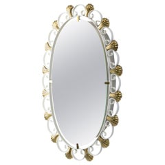 1960s Metal and Brass Mirror for Hillebrand