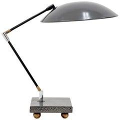 Memphis style  1980s Metal Desk Lamp