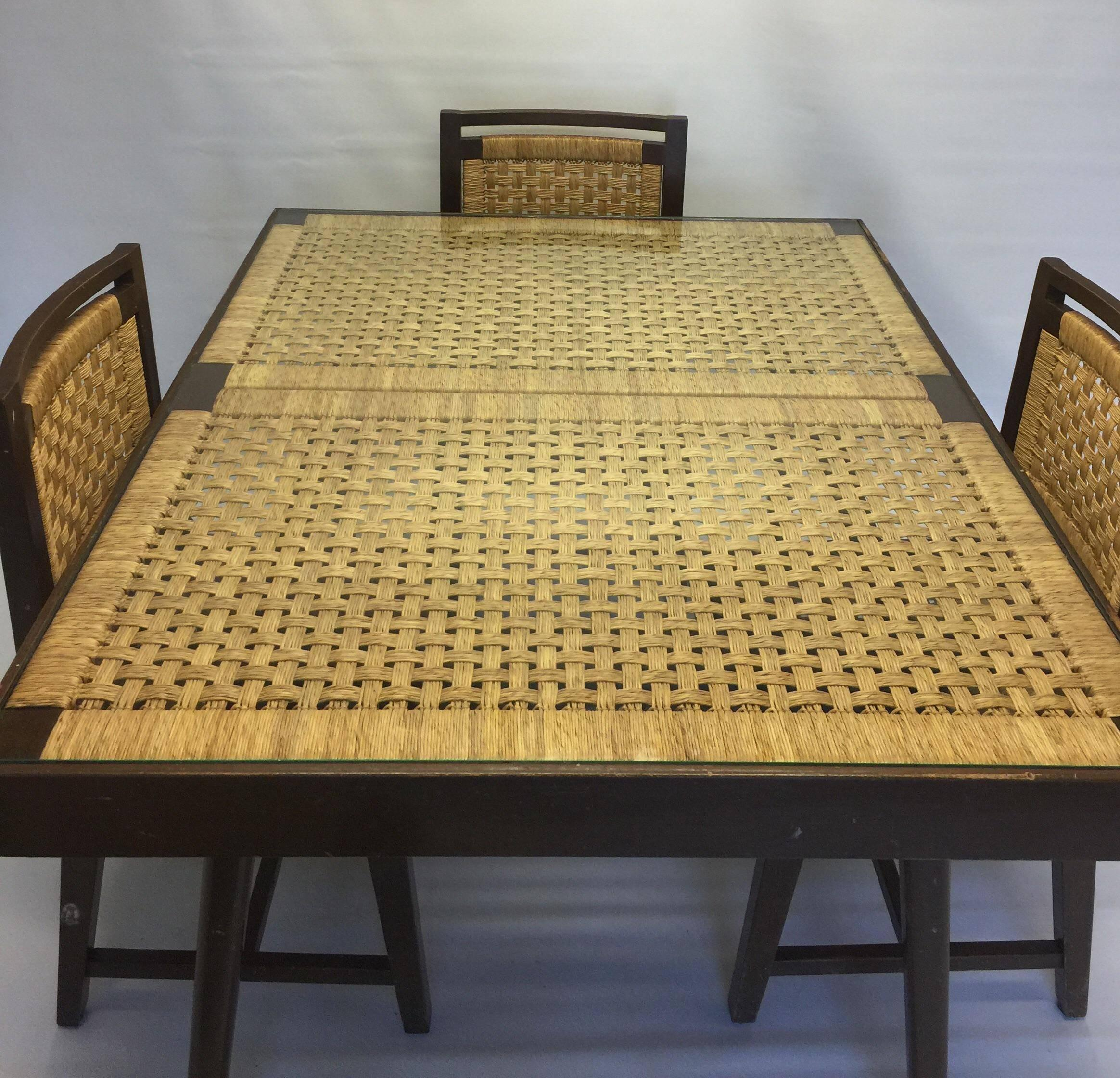 A Rare 1960s Mexican Modernist Dining Set, Attributed To Michael Van Buren.  Set Consists