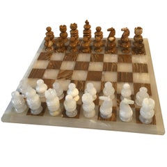 1960s Mexican Onyx Chess Set