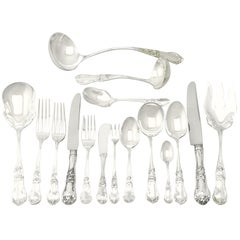 1960s Mexican Sterling Silver Canteen of Cutlery for 12 Persons