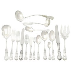 1960s Mexican Sterling Silver Canteen of Cutlery for Twelve Persons
