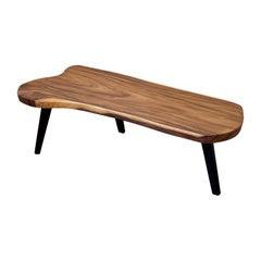 1960s Mid-Century American Freeform Solid Monkey Pod Wood Coffee Table