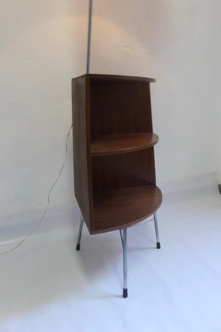 Midcentury Floor Lamp Corner Table 1960s In Good Condition For Valencia