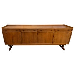 1960s Midcentury Large Danish Rosewood Sideboard or Credenza