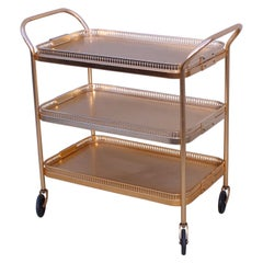 1960's Mid-Century Modern 3 Tier Bar Cart from England by Kaymet