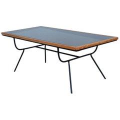 1960s Mid-Century Modern Arbuck Style Iron Coffee Table