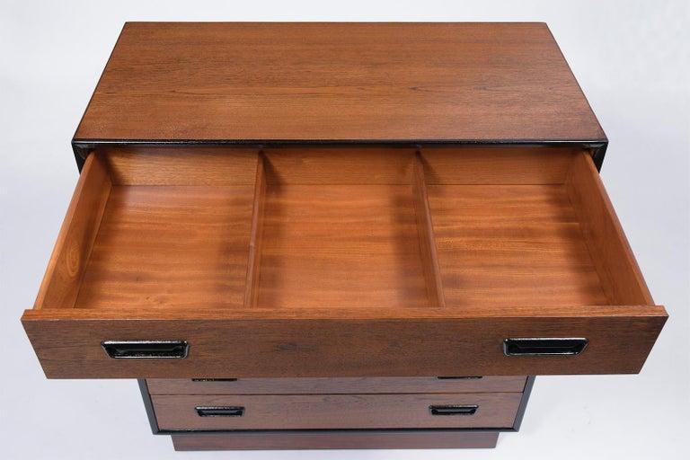 Carved Vintage Mid-Century Modern Danish Dresser For Sale