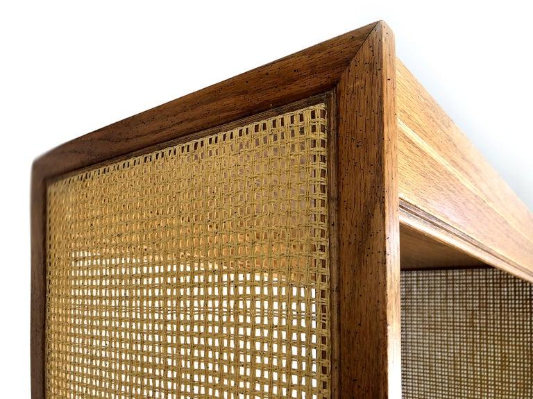 Woven 1960s Mid-Century Modern Dunbar Style Bookcase