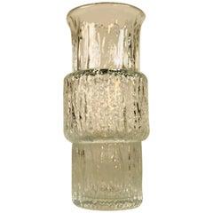 1960s Mid-Century Modern Iittala Textured Glass Vase