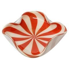 1960's Mid-Century Modern Murano Glass Decorative Bowl