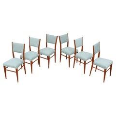 1960's Mid-Century Modern Oak Italian Dining Chairs