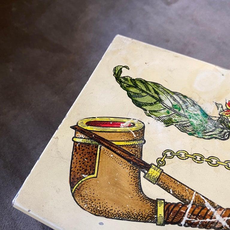 20th Century 1960s Mid-Century Modern Piero Fornasetti Cigarette Box For Sale
