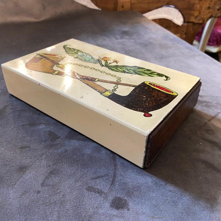 1960s Mid-Century Modern Piero Fornasetti Cigarette Box For Sale 1