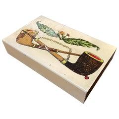 1960s Mid-Century Modern Piero Fornasetti Cigarette Box