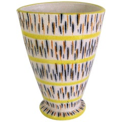 1960s Mid-Century Modern Pottery Vase Attributed to Aldo Londi for Bitossi