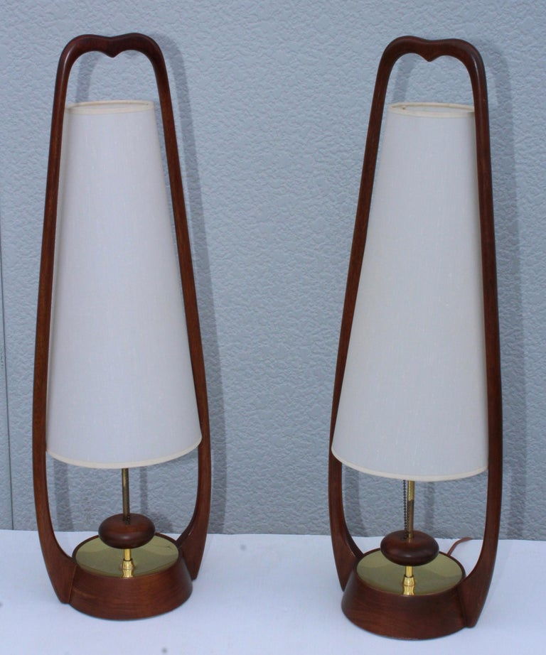American 1960s Mid-Century Modern Table Lamps by Modeline For Sale