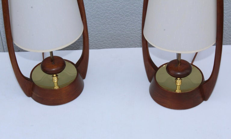 Mid-20th Century 1960s Mid-Century Modern Table Lamps by Modeline For Sale