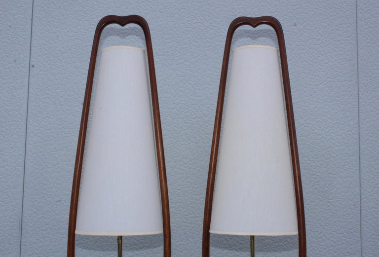1960s Mid-Century Modern Table Lamps by Modeline For Sale 1