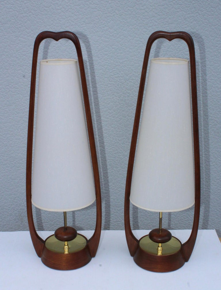 1960s Mid-Century Modern Table Lamps by Modeline For Sale 3