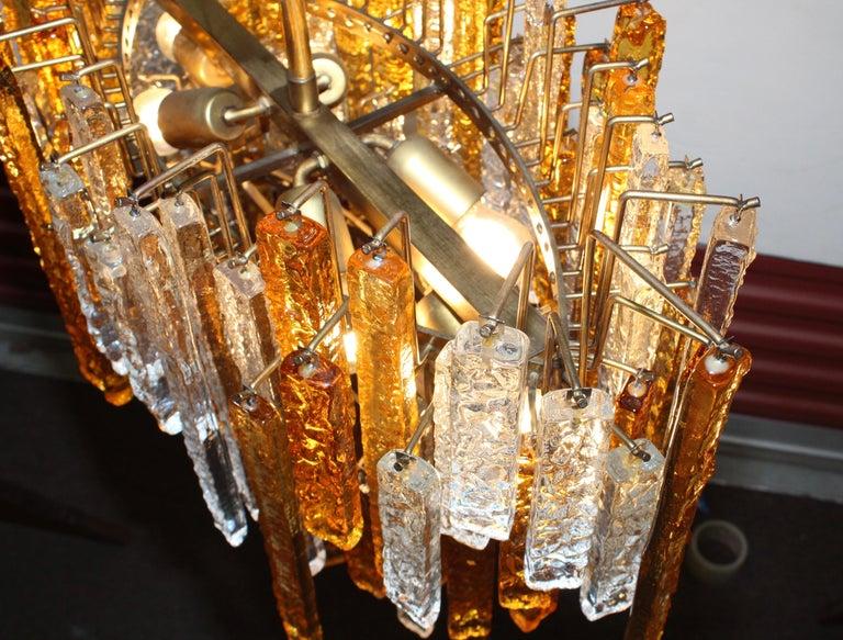 1960s Mid-Century Modern Venini Glass Oval Chandelier For Sale 5
