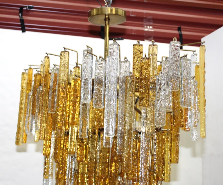 1960s Mid-Century Modern Venini Glass Oval Chandelier For Sale 6