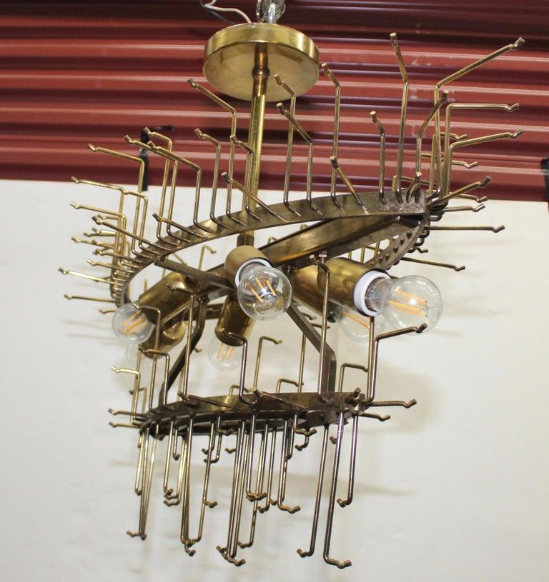 1960s Mid-Century Modern Venini Glass Oval Chandelier For Sale 9