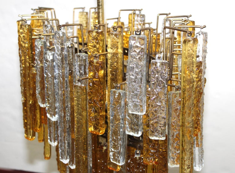 1960s Mid-Century Modern Venini Glass Oval Chandelier For Sale 1