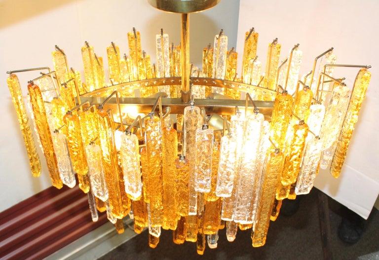 1960s Mid-Century Modern Venini Glass Oval Chandelier For Sale 3