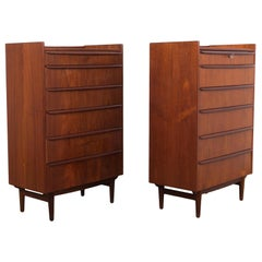 1960s Midcentury Chest of Drawers, a Pair