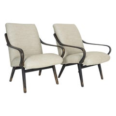 1960s Midcentury Czech Lounge Chairs, a Pair