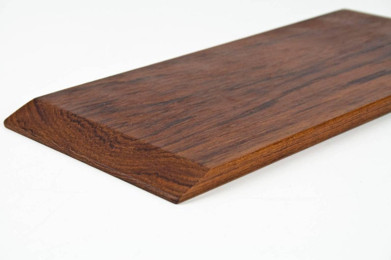 Mid-Century Modern 1960s Midcentury Danish Solid Wooden Teak Desk Accessory or Table Tray For Sale