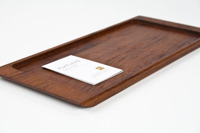 1960s Midcentury Danish Solid Wooden Teak Desk Accessory or Table Tray In Excellent Condition For Sale In Beek en Donk, NL
