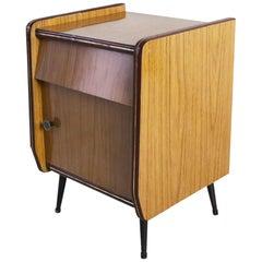 1960s Midcentury Formica Bedside Cabinet
