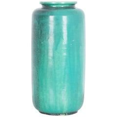 1960s Midcentury German Aqua Blue Glazed Ceramic Vase