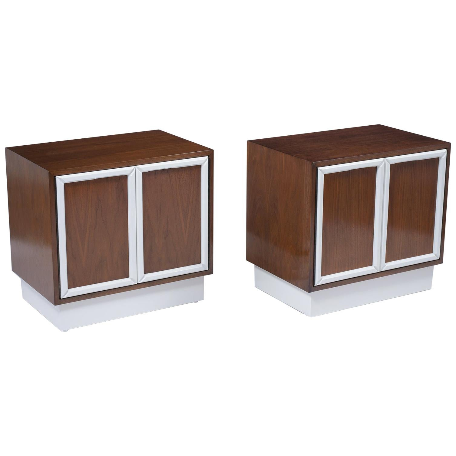 1960s Mid-Century Lacquered Nightstands