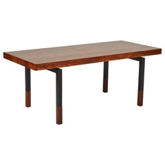 1960s Midcentury Rectangular Coffee Table in Walnut